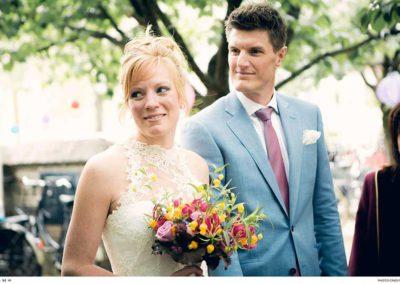 Een lichtblauw trouwpak van Rietbergh