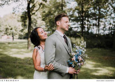 Een groen trouwpak van Rietbergh